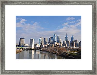 Philadelphia From The South Street Bridge Framed Print by Bill Cannon