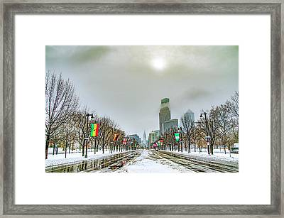 Philadelphia - Hazy Shade Of Winter Framed Print by Bill Cannon