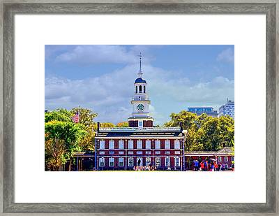 Philadelphia Landmark Framed Print by DJ Florek