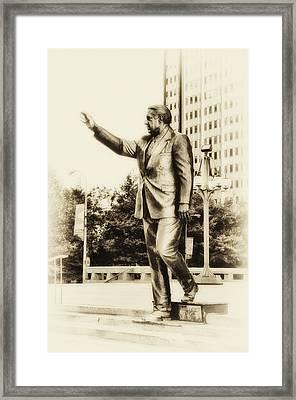 Philadelphia Mayor - Frank Rizzo Framed Print by Bill Cannon