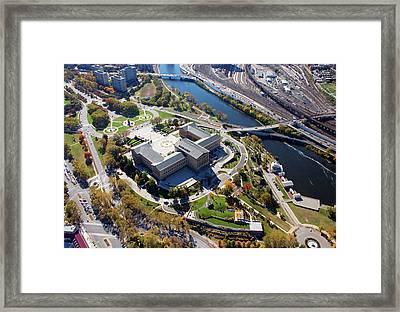Philadelphia Museum Of Art 26th Street And Benjamin Franklin Parkway Philadelphia Pennsylvania 19130 Framed Print by Duncan Pearson
