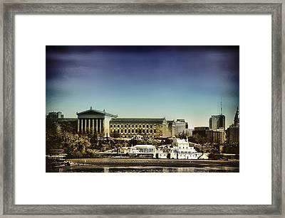Philadelphia Museum Of Art And The Fairmount Waterworks From West River Drive Framed Print by Bill Cannon