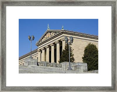 Philadelphia Museum Of Art Framed Print by Brendan Reals
