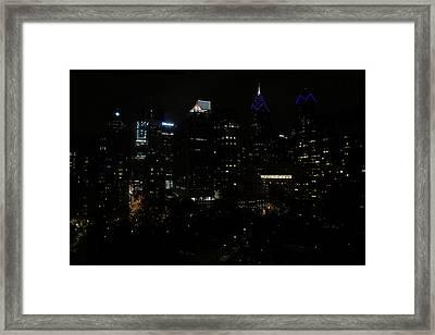 Philadelphia Night Lights Framed Print by Rona Black