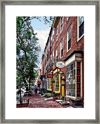 Philadelphia Pa - S 2nd Street Framed Print by Susan Savad