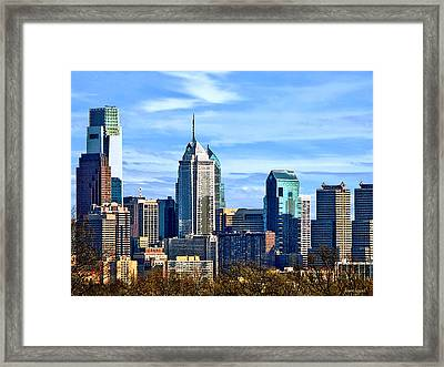 Philadelphia Pa Skyline II Framed Print by Susan Savad