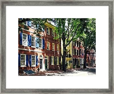 Philadelphia Pa - Society Hill Street Framed Print by Susan Savad
