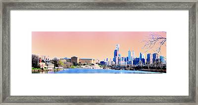 Philadelphia Panoramic Framed Print by Bill Cannon