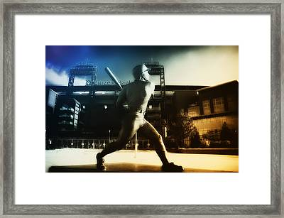 Philadelphia Phillie Mike Schmidt Framed Print by Bill Cannon