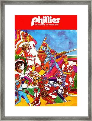 Philadelphia Phillies 1973 Program Framed Print