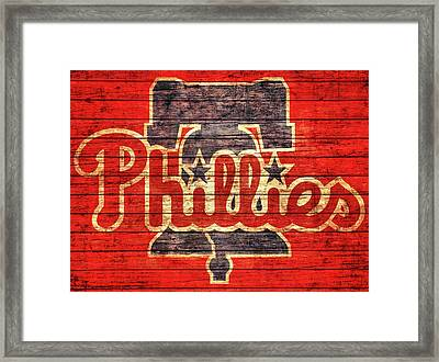 Philadelphia Phillies Barn Door Framed Print by Dan Sproul