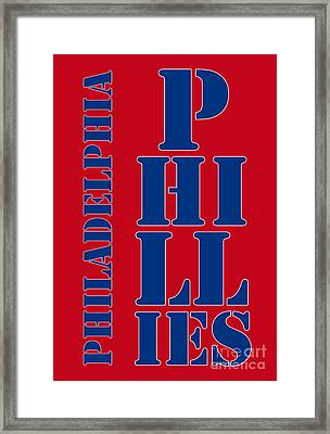 Philadelphia Phillies Typography Framed Print