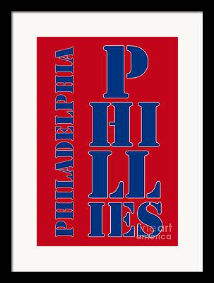 Philadelphia Phillies Stadium Drawings Framed Prints