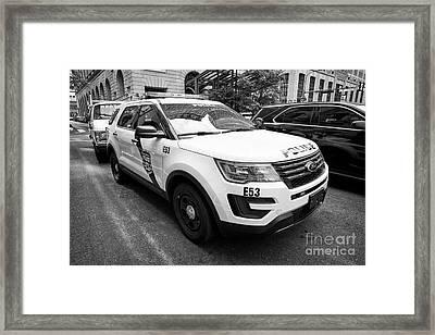 Philadelphia Police Ford Interceptor Utility Patrol Car Vehicle Usa Framed Print