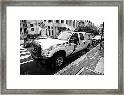 Philadelphia Police Swat Ford Truck Vehicle Usa Framed Print