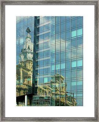 Philadelphia Reflections Framed Print by Russ Harris