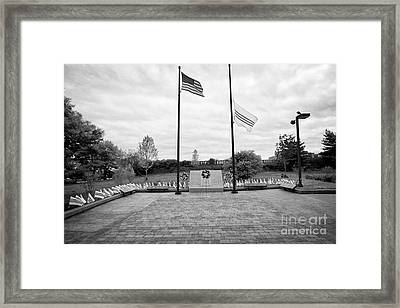 Philadelphia Republic Of South Vietnam Freedom And Heritage Flag Monument Memorial Usa Framed Print