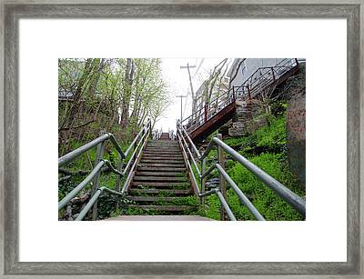 Framed Print featuring the photograph Philadelphia - Roxborough Avenue Steps by Bill Cannon