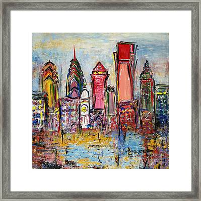 Philadelphia Skyline 232 1 Framed Print