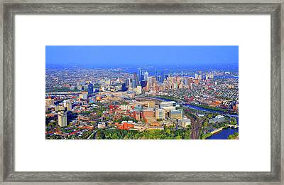 Philadelphia Skyline 3400 Civic Center Blvd Framed Print by Duncan Pearson
