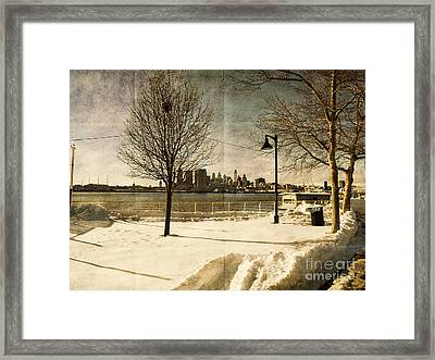 Philadelphia Snowscape Framed Print by Milton Brugada