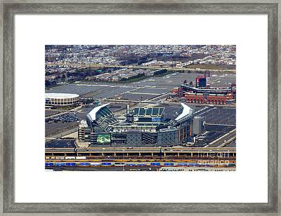 Philadelphia Sports Complex Framed Print by Anthony Totah