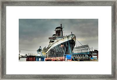 Philadelphia - Ss United States Framed Print by Bill Cannon
