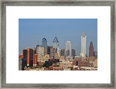 Philadelphia Standing Tall Framed Print by Bill Cannon
