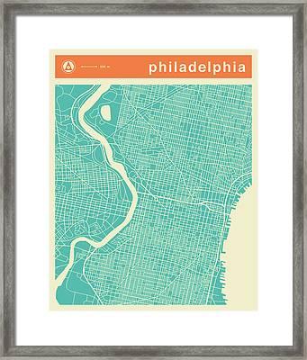 Philadelphia Street Map Framed Print
