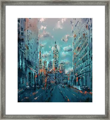 Philadelphia Street Framed Print by Bekim Art