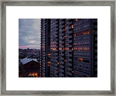 Philadelphia Sunset Framed Print