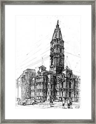 Philadelphia Town Hall Framed Print