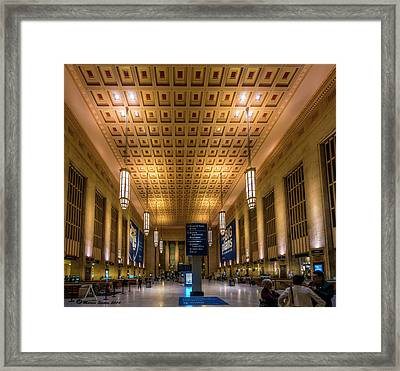 Philadelphia Train Station Framed Print