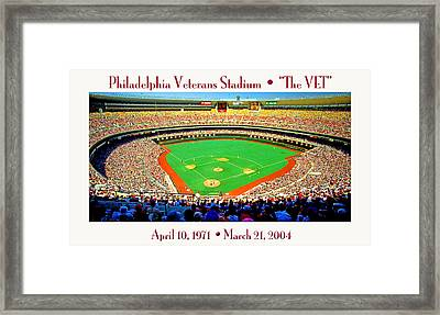 Philadelphia Veterans Stadium The Vet Framed Print