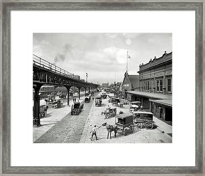 Philadelphia Waterfront  1908 Framed Print by Daniel Hagerman