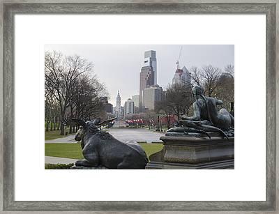 Philadelphia's Benjamin Franklin Parkway Framed Print by Bill Cannon