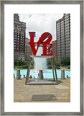 Philadelphia's Love Park Framed Print by Cindy Manero