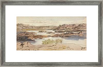 Philae, Five-twenty Pm, 30 January 1867 Framed Print