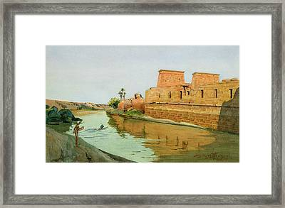 Philae On The Nile Framed Print by Alexander West