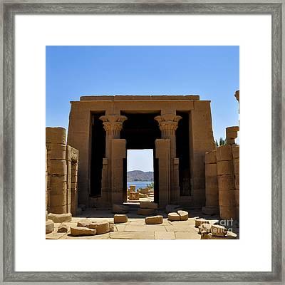 Philae Temple Framed Print by Stevyn Llewellyn