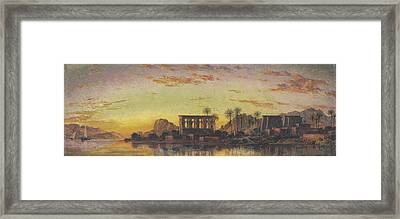 Philae The Beautiful Framed Print by Edward William Cooke
