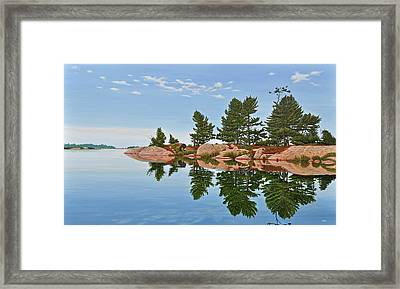 Framed Print featuring the painting Philip Edward Island by Kenneth M Kirsch