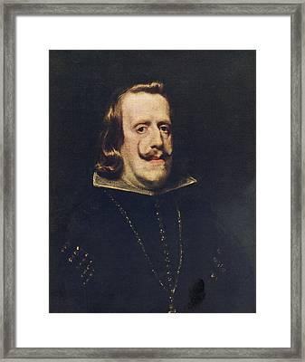 Philip Iv. Painting By Diego De Silva Y Framed Print
