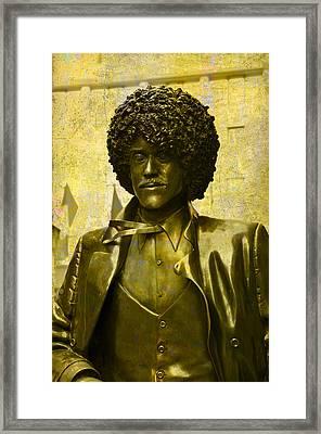 Philip Lynott Statue Framed Print
