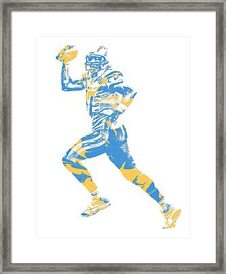 Philip Rivers Los Angeles Chargers Pixel Art 10 Framed Print