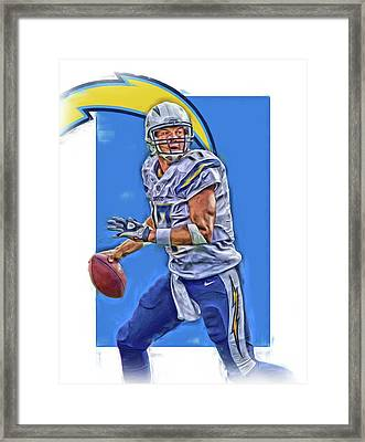 Philip Rivers San Diego Chargers Oil Art Framed Print