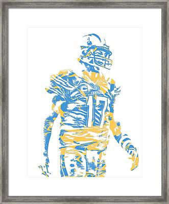 Philip Rivers San Diego Los Angeles Chargers Pixel Art 4 Framed Print