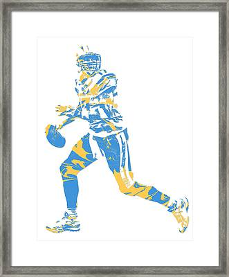 Philip Rivers San Diego Los Angeles Chargers Pixel Art 5 Framed Print