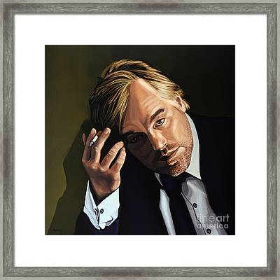 Philip Seymour Hoffman Framed Print by Paul Meijering
