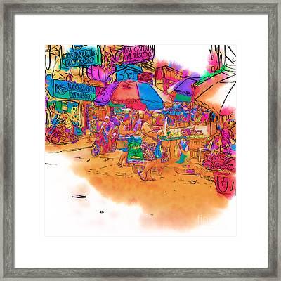 Philippine Open Air Market Framed Print